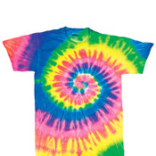 Dyenomite Youth Neon Spiral Rainbow Pigment-Dyed Tee