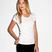 +Canvas Ladies' Baby Rib Short-Sleeve Scoop-Neck Tee