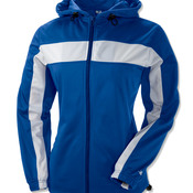 Ladies' Brushed Tricot Hooded Jacket