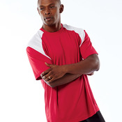 UltraClub® Adult Cool & Dry Sport Color Block Tee