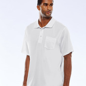 UltraClub® Adult Cool & Dry Mesh Sport Polo with Pocket