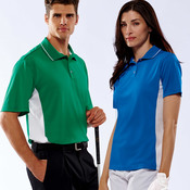 UltraClub® Adult Cool & Dry Mesh Sport Two-Tone Polo