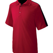 UltraClub® Adult Cool & Dry Sport Shoulder Block Polo