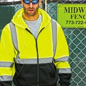 Hi-Vis Hooded Full-Zip Sweatshirt