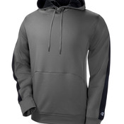 Adult Performance Color Block Hooded Pullover Fleece