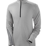 Men's Heather 3-Stripes 1/4-Zip Fleece