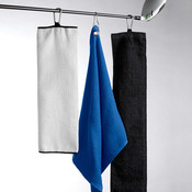 UltraClub Tri-Fold Velour Golf Towel with Carabiner