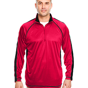 Adult Cool & Dry Sport Quarter-Zip Pullover with Side and Sleeve Panels