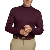 Interlock Knit Mock Turtleneck