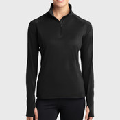 Ladies Sport Wick ® Stretch 1/2 Zip Pullover