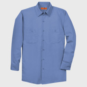 Long Size, Long Sleeve Industrial Work Shirt