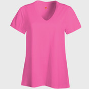 Ladies Nano T ® Cotton V Neck T Shirt