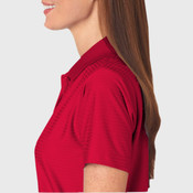UltraClub® Ladies' Cool & Dry Elite Tonal Stripe Performance Polo