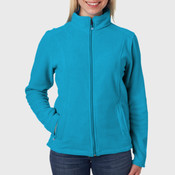 UltraClub Ladies' Micro-Fleece Full-Zip Jacket