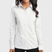Ladies Dimension Knit Dress Shirt
