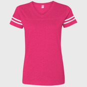 LA T Ladies' Fine Jersey Football Tee
