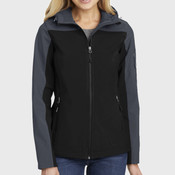 Ladies Hooded Core Soft Shell Jacket