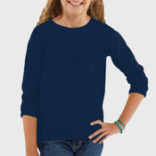 LA T Girls' Lightweight French Terry Slouchy Pullover