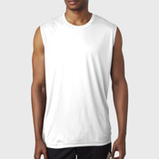 UltraClub® Adult Cool & Dry Sport Performance Interlock Sleeveless Tee