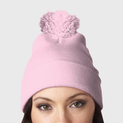 UltraClub Knit Pom-Pom Beanie with Cuff
