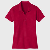 Ladies Embossed PosiCharge ® Tough Polo ®