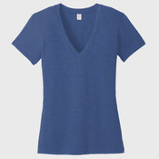 Alternative Women's Weathered Slub So Low V Neck Tee