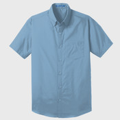 Short Sleeve Carefree Poplin Shirt