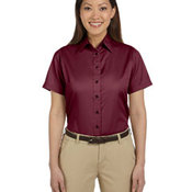 Ladies' Easy Blend™ Short-Sleeve Twill Shirt with Stain-Release