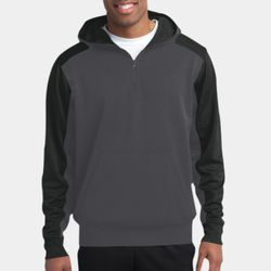 Adult Colorblock 1/4 Zip Sweatshirt Thumbnail