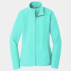 Ladies Heather Microfleece Jacket Thumbnail